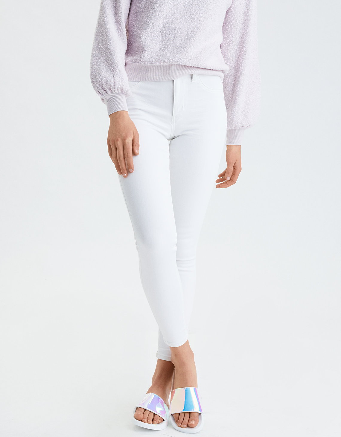 AE Ne(X)T Level High-Waisted Jegging - Brigth White