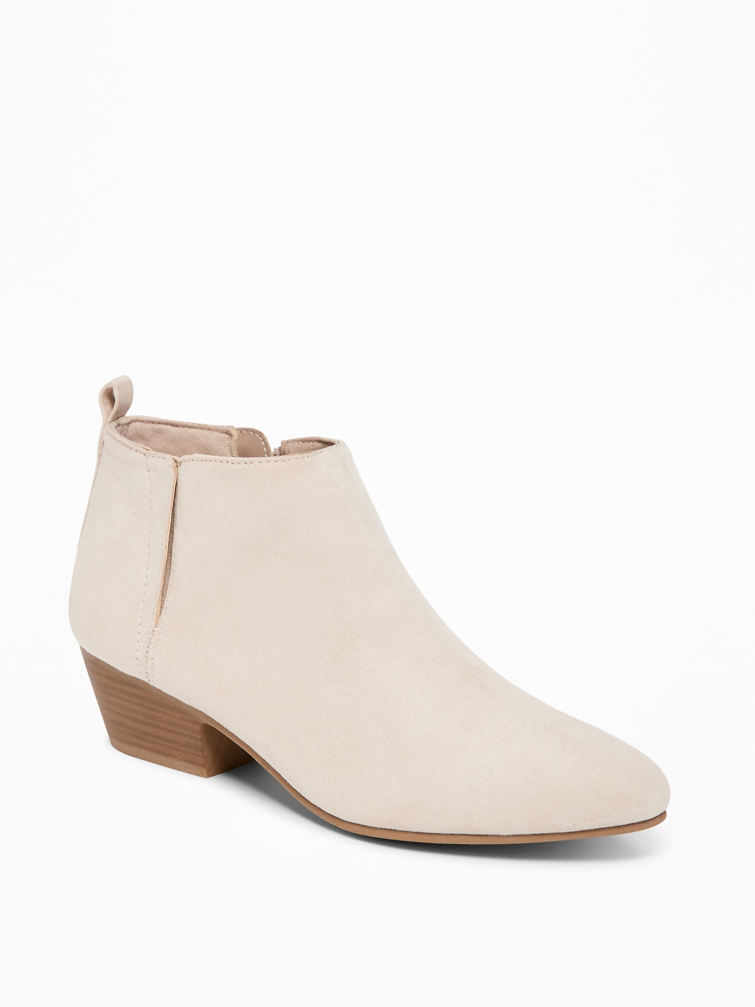 Sueded Ankle Boots for Women - Sidewalk Ends